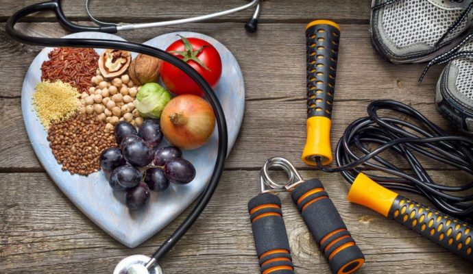 Muestra de cosas que te permiten Comer saludable y hacer ejercicios