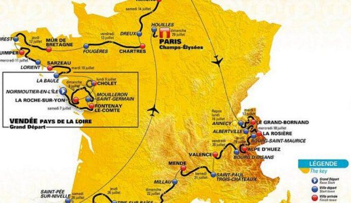 Mapa del tour 2018