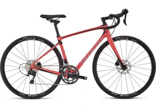 Bic. 700 Specialized Ruby Elite size 44 rojo acido/Fthy blanco/negro 90218-4044